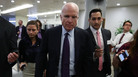 Sen. John McCain, R-Ariz., seen on Capitol Hill on Monday, has announced his opposition to the latest GOP health care proposal.