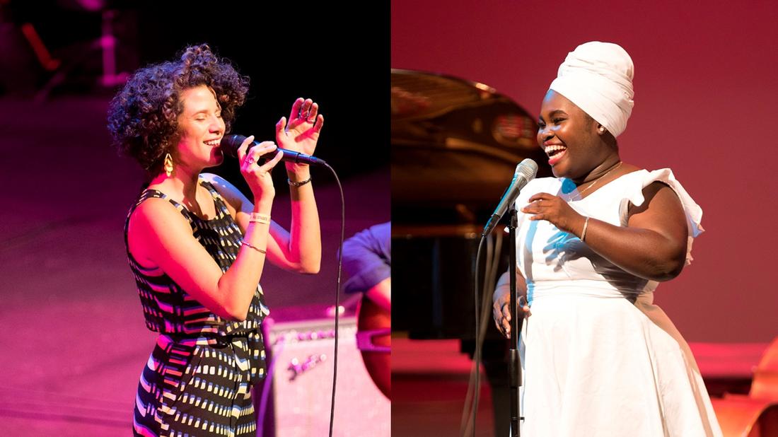 Cyrille Aimée And Daymé Arocena at the 2017 San Jose Jazz Summer Fest.