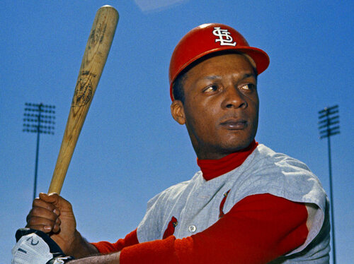 """St. Louis Cardinals outfielder Curt Flood in March 1968. He helped lay the groundwork for modern free agency after he declared that he was a """"well-paid slave."""" (Anonymous/AP)"""
