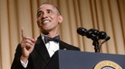 """President Barack Obama speaks at the 2014 White House Correspondents' Association Dinner in Washington, D.C. Speechwriter David Litt, who helped craft the president's comedy routine that night, says, """"Some of the joke is always that it's the president telling a joke."""""""