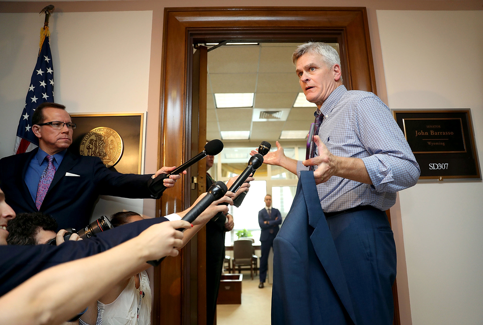 Sen. Bill Cassidy, R-La., continues to tweak the health care bill he cosponsors in an effort to persuade reluctant senators to back it. (Joe Raedle/Getty Images)