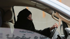 A Saudi woman drives on a highway in 2014 in Riyadh, Saudi Arabia, as part of a campaign to defy the country's ban on women driving.