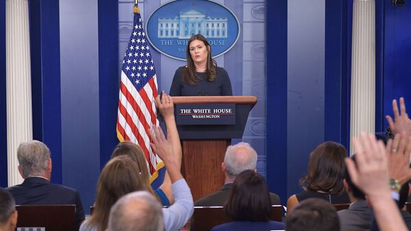 """""""All White House personnel have been instructed to use official email to conduct all government related work,"""" Press Secretary Sarah Sanders said after reports emerged of senior Trump administration officials using private email."""