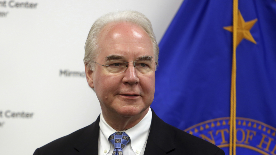 Health and Human Services Secretary Tom Price speaks at the Mirmont Treatment Center in Media, Pa., on Friday.