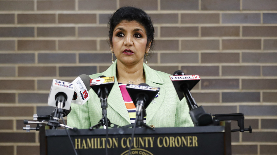 Dr. Lakshmi Sammarco said Wednesday her coroner's office was not able to identify the cause of brain damage that killed 22-year-old Otto Warmbier, who was imprisoned by North Korea for more than a year. (John Minchillo/AP)