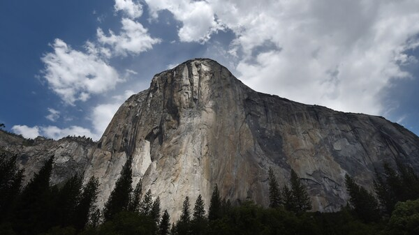El Capitan soars over Yosemite National Park in California. A rockfall that killed one person and injured another was reported on Wednesday from the site which is popular with climbers.