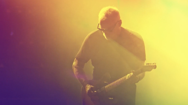 David Gilmour, performing live at Pompeii