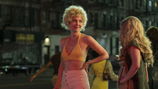 Maggie Gyllenhaal plays Candy, a prostitute who hopes to get out of the trade by learning to make porn films, on the HBO series The Deuce.