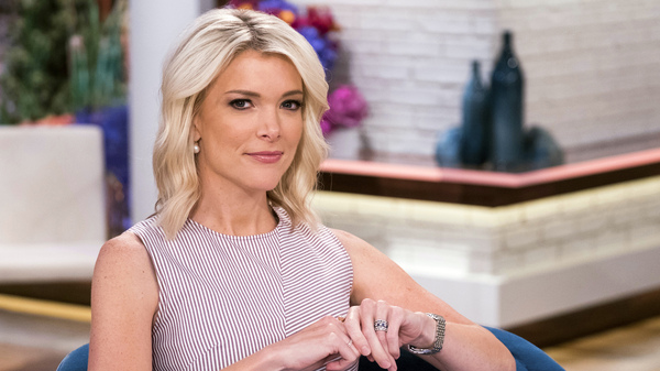 Megyn Kelly poses on the set of her new show at NBC Studios in New York. Her first week as host of the morning show was rocky.