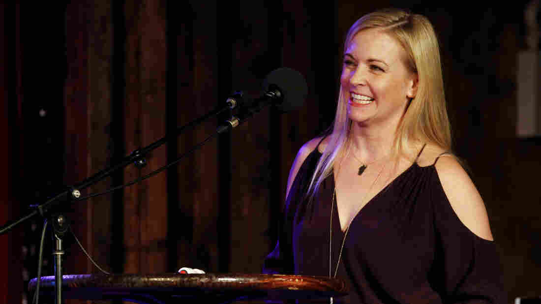 Melissa Joan Hart on Ask Me Another at The Bell House in Brooklyn, New York.