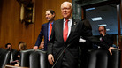 Senate Finance Committee Chairman Orrin Hatch, R-Utah, center, and ranking member Ron Wyden, D-Ore., have a plan to renew funding for the Children's Health Insurance Program, which lapsed Sept. 30.