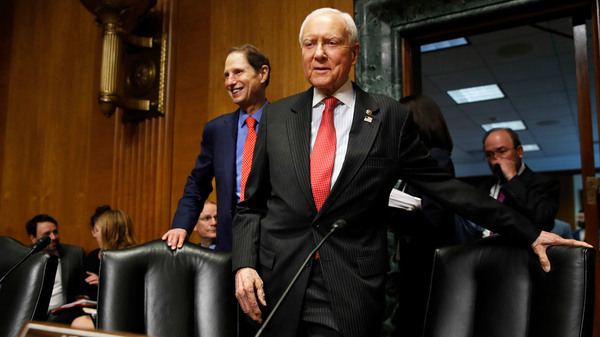 Senate Finance Committee Chairman Orrin Hatch, R-Utah, center, and ranking member Ron Wyden, D-Ore., have a plan to renew funding for the Children