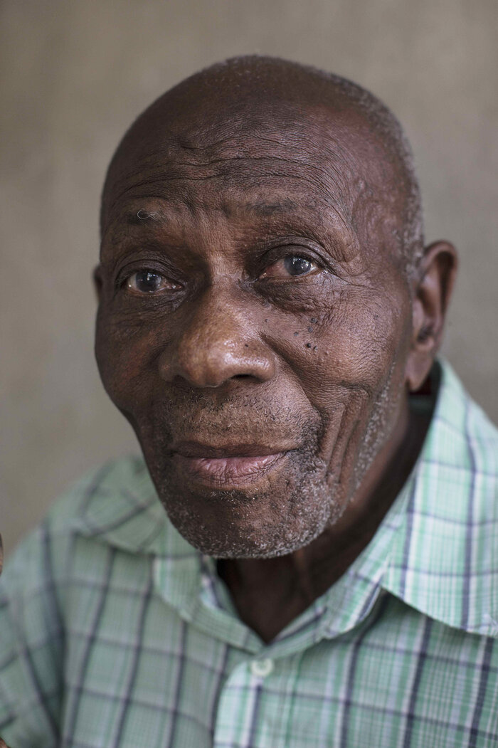 Francisco Pierre, 90, a survivor of the 1937 Massacre.