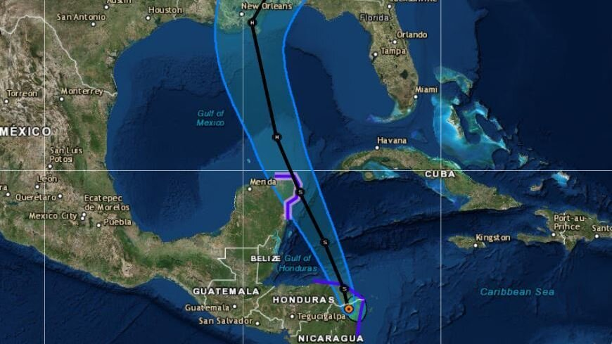 Tropical Storm Nate Is Predicted To Hit US Gulf Coast As A - Us gulf map