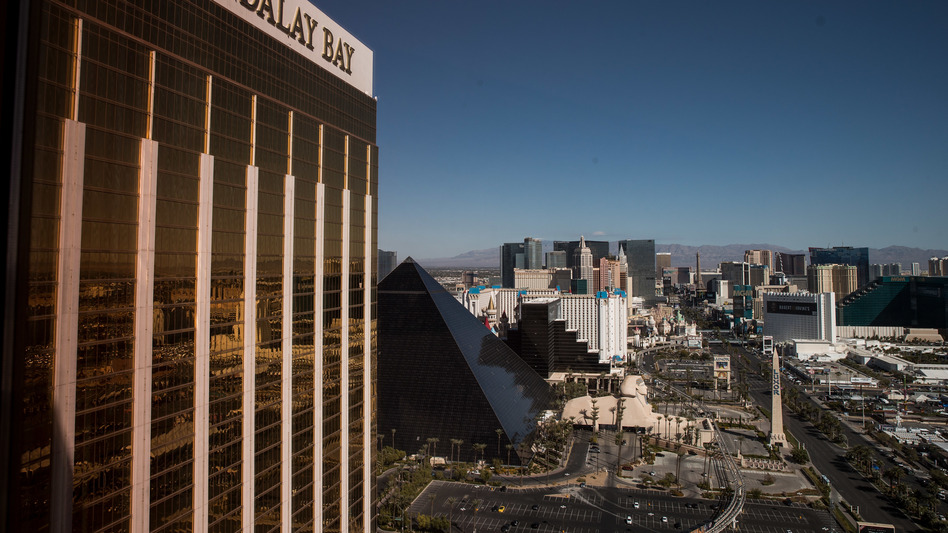 A view of the Mandalay Bay Resort and Casino, overlooking the Las Vegas Strip. (Drew Angerer/Getty Images)