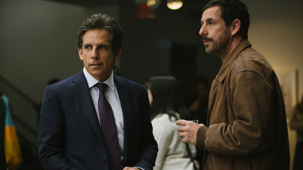 Ben Stiller and Adam Sandler are brothers in conflict in The Meyerowitz Stories (New and Selected).