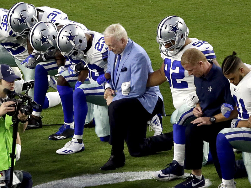 3140c22acf2580 Dallas Cowboys Owner Jerry Jones  Players Cannot Disrespect Flag ...