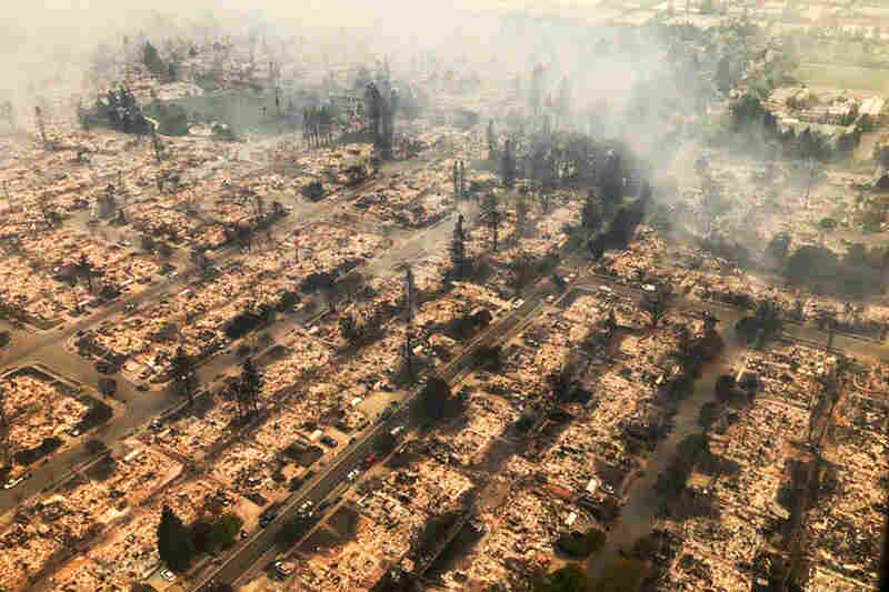 California Wildfires Leave Apocalyptic Scenes In Wine Country