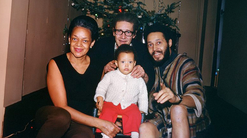 Ronald Clark (at right), his parents, Elva and Raymond, and his daughter Jamilah, in their apartment at an upper Manhattan branch of the New York Public Library in the early 1970s.