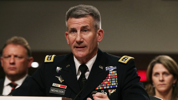 """U.S. Army Gen. John Nicholson told the Senate Armed Services Committee in February that the war in Afghanistan was at a """"stalemate."""""""
