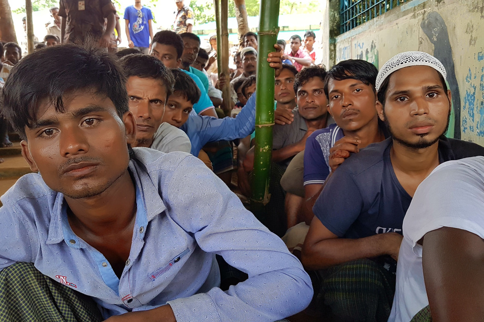 Bangladesh is struggling to accommodate 500,000-plus Rohingya who have poured across the border in less than two months. It isn't recognizing them as refugees and would prefer to see them repatriated. (Michael Sullivan for NPR)
