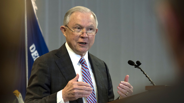 Attorney General Jeff Sessions speaks about immigration in Falls Church, Va., last week.