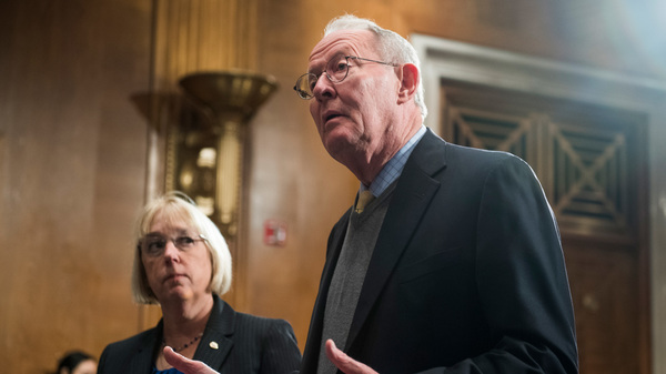 Sens. Patty Murray, D-Wash. (left), and Chairman Lamar Alexander, R-Tenn., say they have a tentative agreement to appropriate the subsidies for the next two years, restore money used to encourage people to sign up for Affordable Care Act health plans and make it easier for states to design their own alternative health care systems.