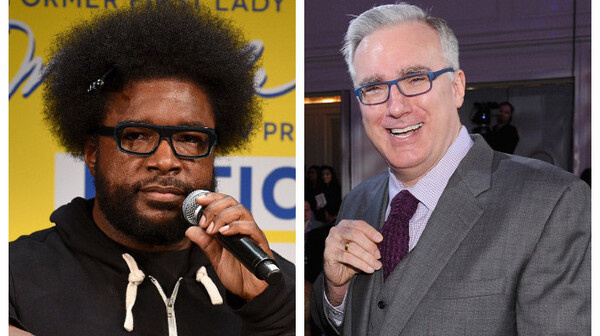 """How is [Keith] Olbermann on my side of the fence (politics) but not on my side (hip hop)?"" The Roots"