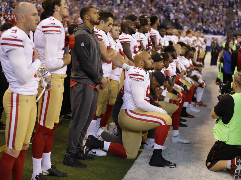 Nfl and players meet but punt on anthem controversy the two way npr the colin kaepernick effect m4hsunfo