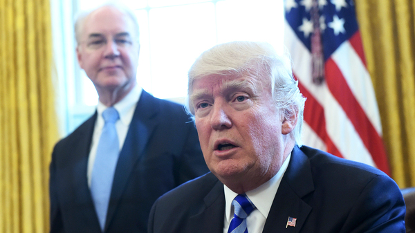 The Washington Post reports that President Trump, shown here with Former Health and Human Services Secretary Tom Price, personally intervened in Iowa