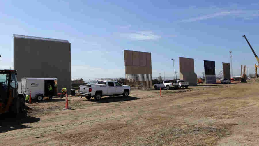 30-Foot Border Wall Prototypes Erected In San Diego Borderlands
