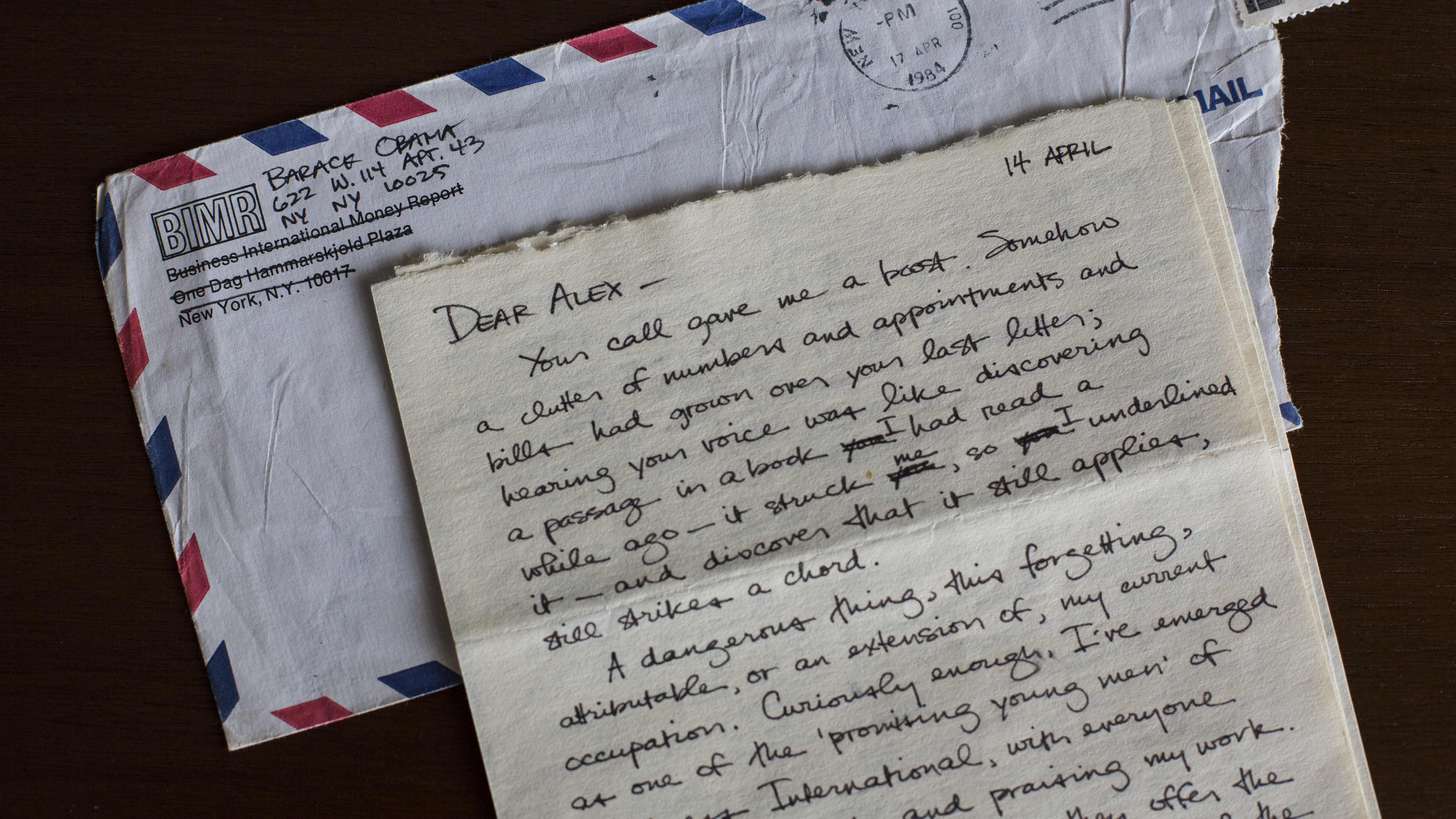 Barack Obama S Letters Written To A Girlfriend In The 1980s Part