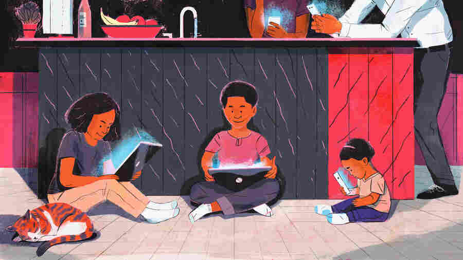 Young Children Are Spending Much More Time In Front Of Small Screens
