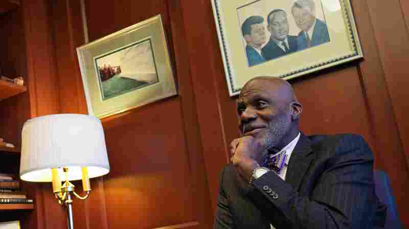 Minnesota Supreme Court Justice Alan Page talks during an interview in his chambers in St. Paul, Minn. in 2015.