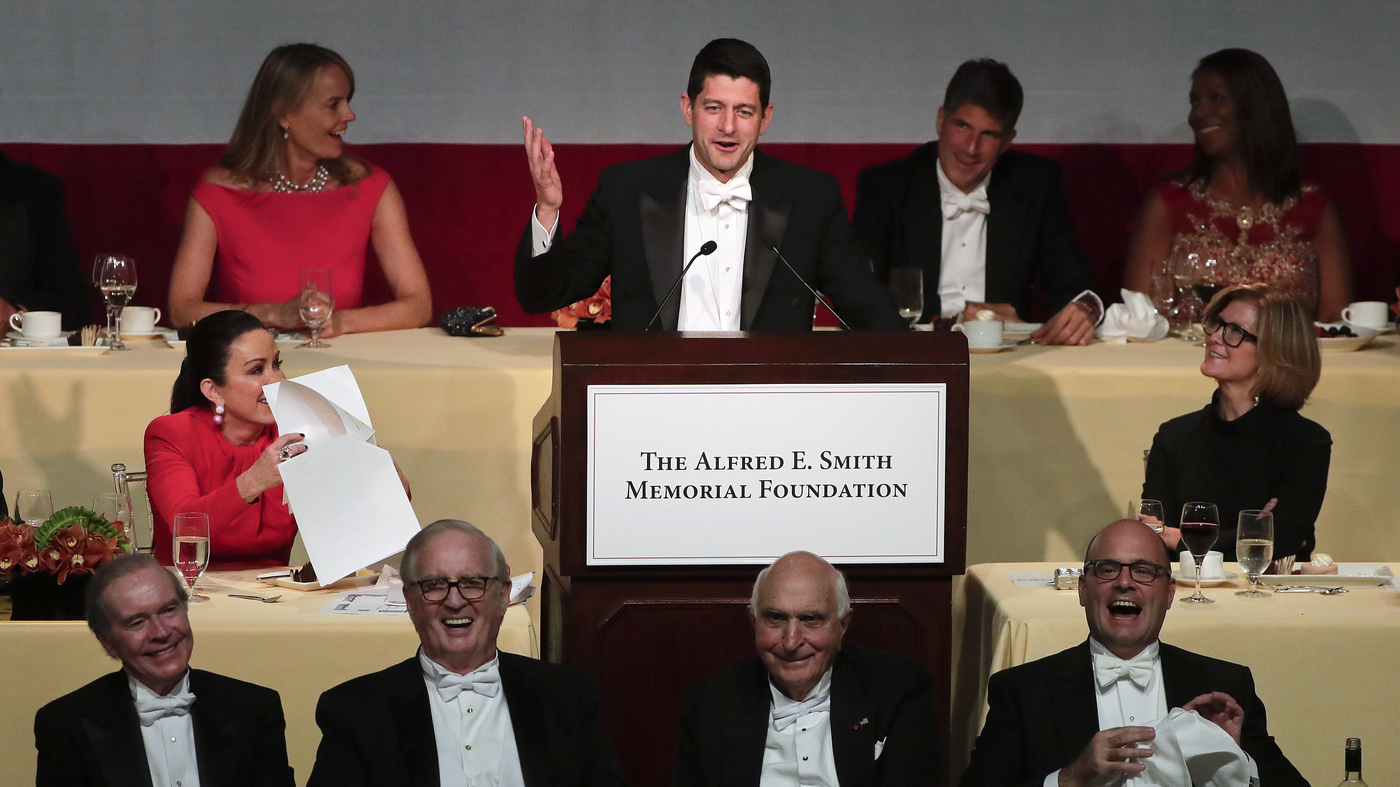 WATCH: Paul Ryan Roasts Trump At Charity Dinner