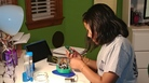 "Rao developing her device in the ""science room"" at home in Lone Tree, Colo."