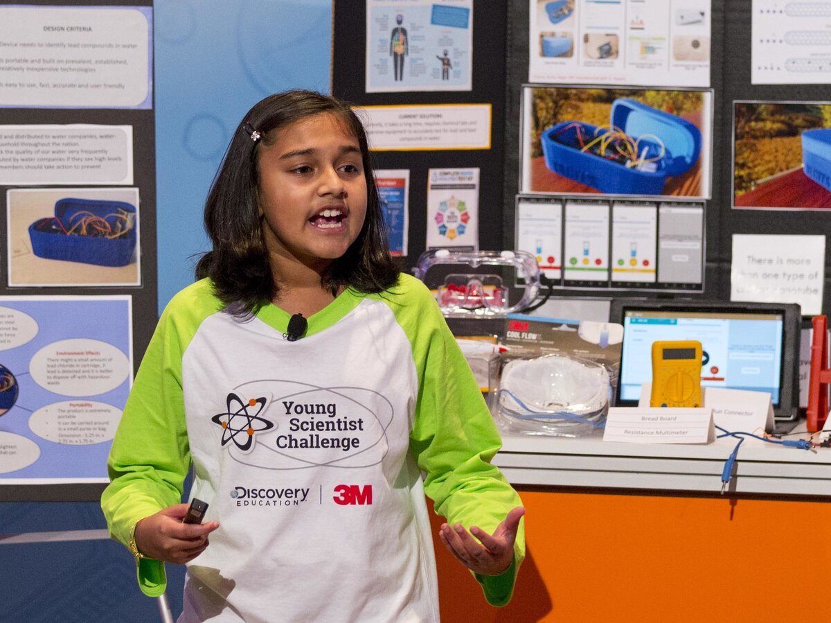 NPR caption: Gitanjali Rao, 11, says she was appalled by the drinking water crisis in Flint, Mich. — so she designed a device to test for lead faster. She was named