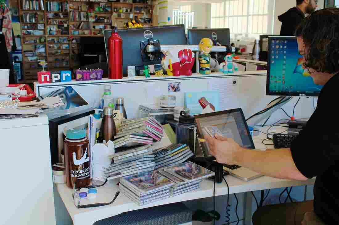 his desk