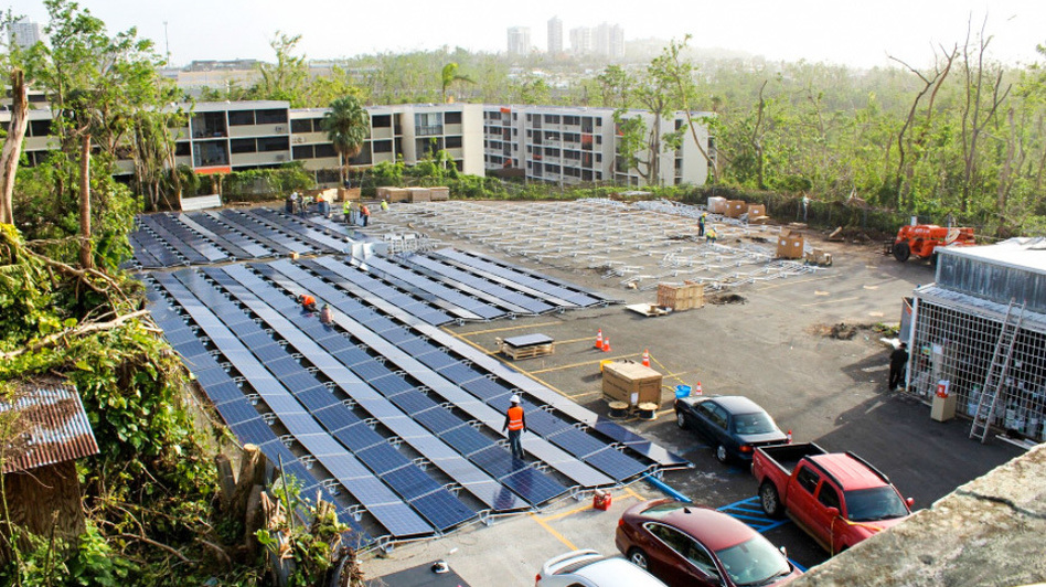 Weeks after Tesla founder Elon Musk and Gov. Ricardo Rossello spoke about the tech company aiding Puerto Rico, Tesla says it has restored electricity to a children's hospital, using solar energy and batteries. (Tesla)