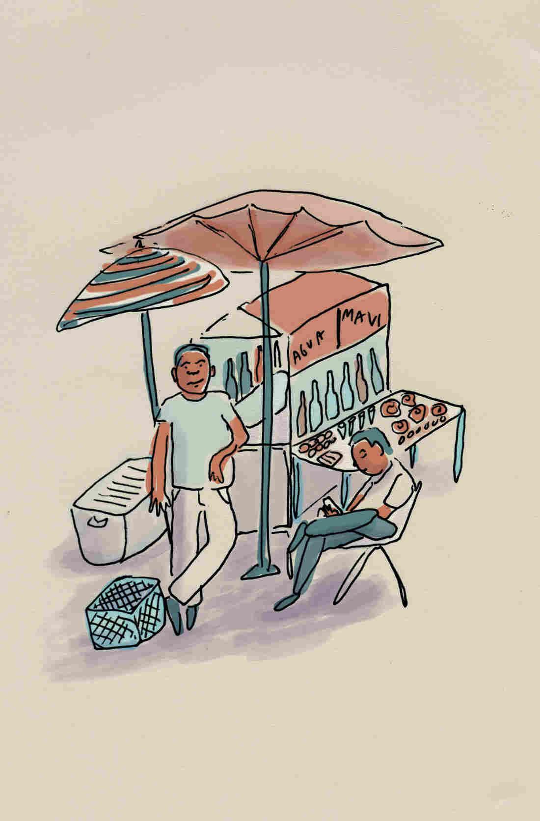 Felipe Suarez, 54, sells piragua (snow cones) and traditional Puerto Rican candies.