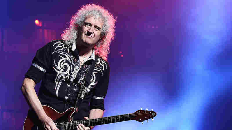Brian May performs with Queen earlier in 2017.