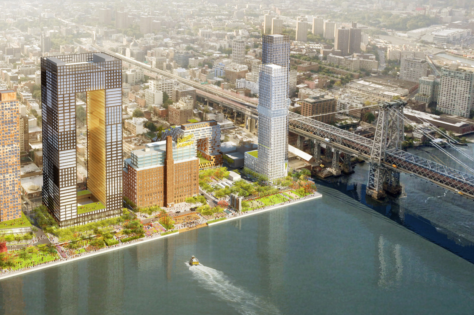 The Domino Sugar development on the Brooklyn waterfront was redesigned after Sandy to make it more resilient to flooding. (SHoP Architects)