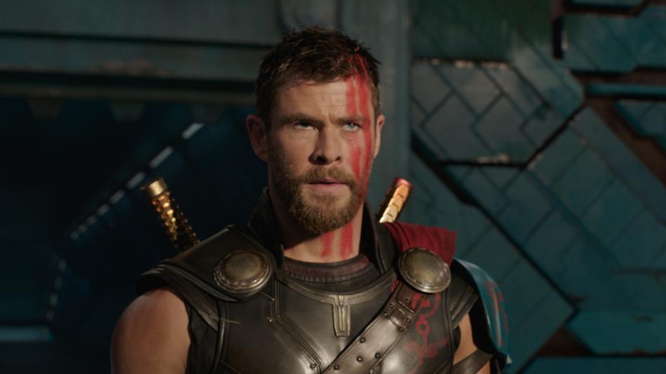 A Star is Shorn: Chris Hemsworth's God of Thunder gets a cosmic makeover in <em>Thor: Ragnarok</em>. (Marvel)
