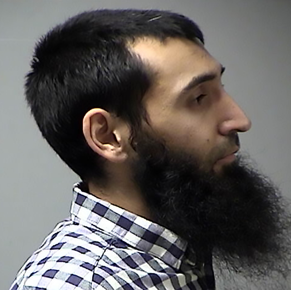 A handout photograph, obtained courtesy of the St. Charles County Department of Corrections in Missouri, shows Sayfullo Saipov. In April 2016, a warrant for Saipov was issued in Missouri over an unpaid traffic citation.