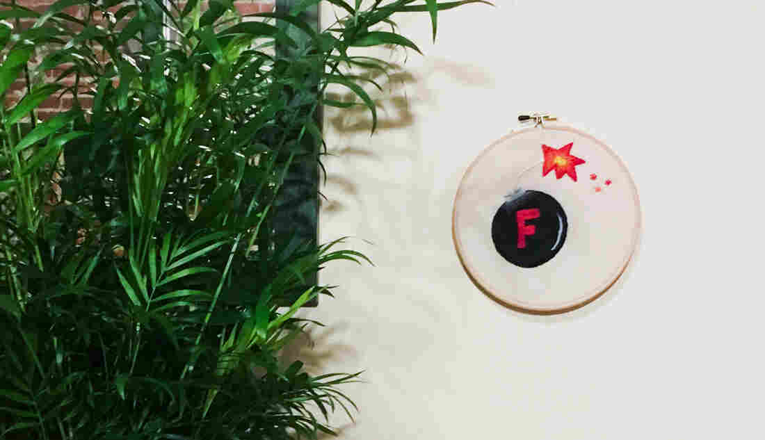 F-bomb embroidery