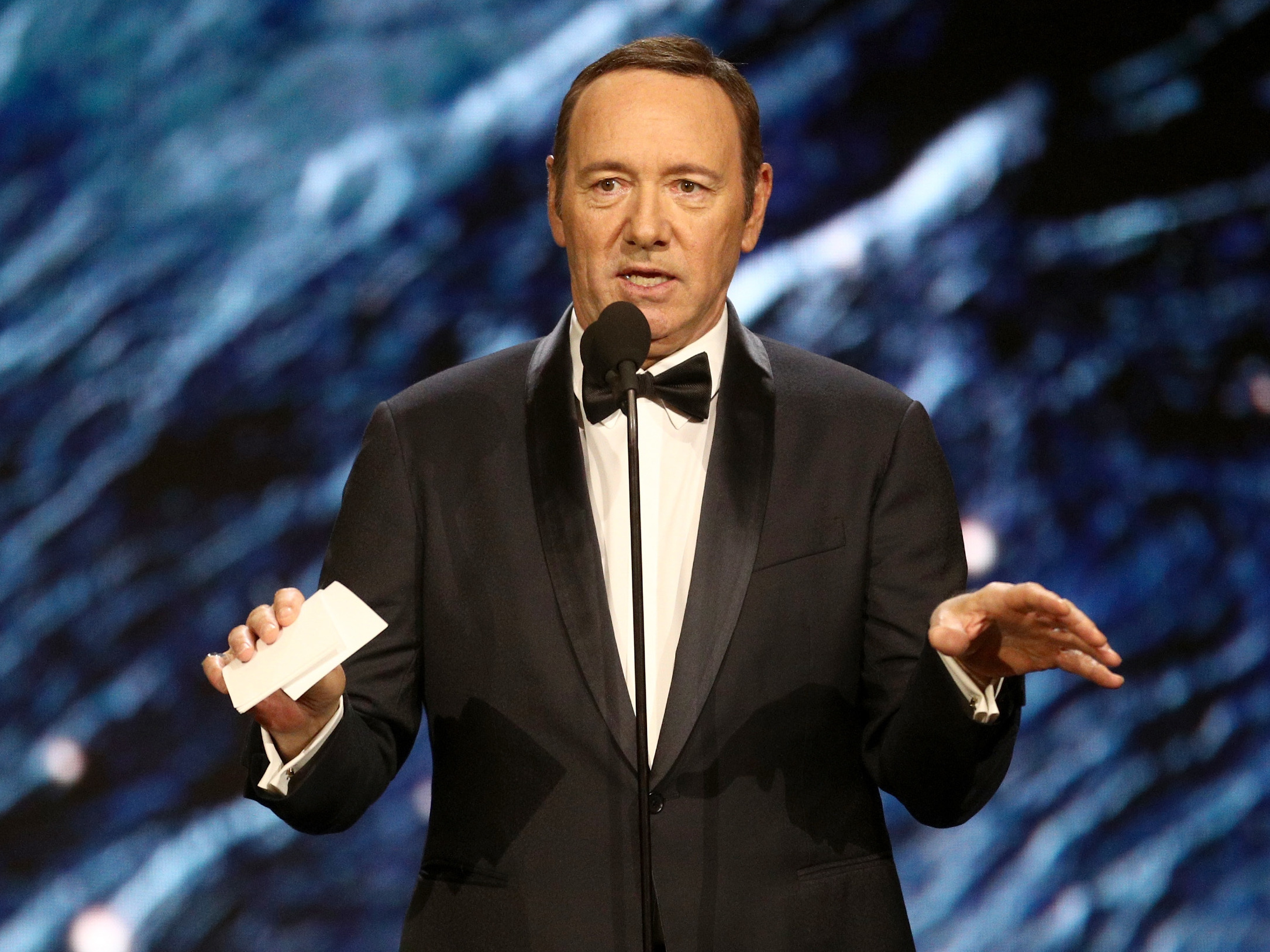 Netflix also says it will not complete post-production work on the film Gore, which Kevin Spacey produced and starred in.