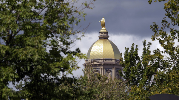 """Notre Dame is the """"first and most important employer publicly to take advantage"""" of the rollback, The Los Angeles Times says."""