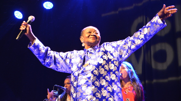 """Calypso Rose performs at the Oslo World Music Festival. At 77 years of age, she is the """"Queen of Calypso,"""" continuing to perform with infectious energy."""