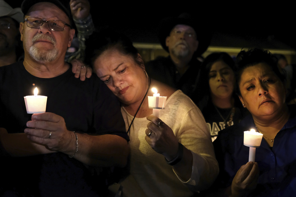 Sutherland Springs is tight-knit community of fewer than 1,000 people. On Sunday, its residents came together to confront their devastating loss. (Laura Skelding/AP)