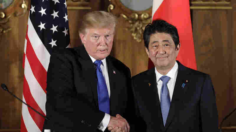 Trump, During Visit To Japan, Talks Trade And North Korea